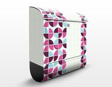 Cassetta postale Retro Circles Pattern Design 39x46x13cm