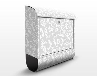 Cassetta postale Zigzag Repeating Pattern 39x46x13cm