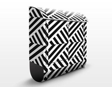 Cassetta postale Stripes Repeat Pattern 39x46x13cm