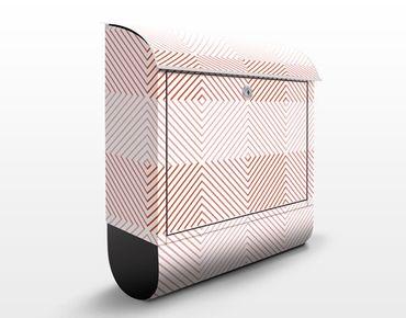Cassetta postale Striped Pattern Design Pink 39x46x13cm