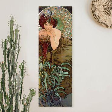 Quadri su tela - Alfons Mucha - Pietre preziose - Emerald