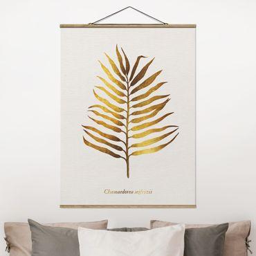 Foto su tessuto da parete con bastone - Gold - Palm Leaf II - Verticale 4:3