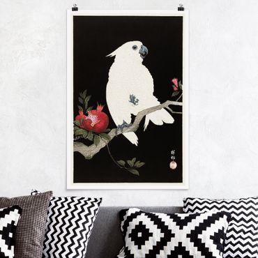 Poster - Asian illustrazione d'epoca White Cockatoo - Verticale 3:2