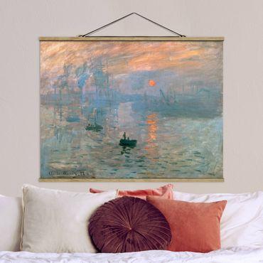 Foto su tessuto da parete con bastone - Claude Monet - Impressione - Orizzontale 3:4