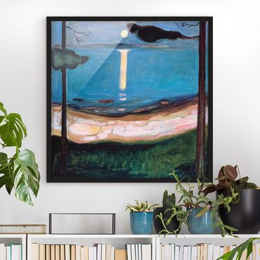 Poster con cornice - Edvard Munch - Luna Night - Quadrato 1:1