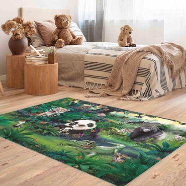 Tappeti in vinile - Animal Club International - Giungla con animali - Orizzontale 3:2