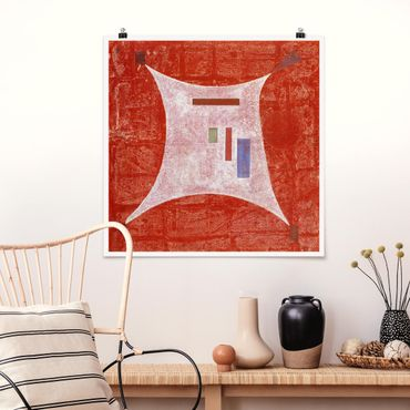 Poster - Wassily Kandinsky - Four Corners - Quadrato 1:1