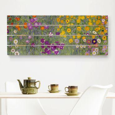 Stampa su legno - Gustav Klimt - Cottage Garden - Orizzontale 2:5