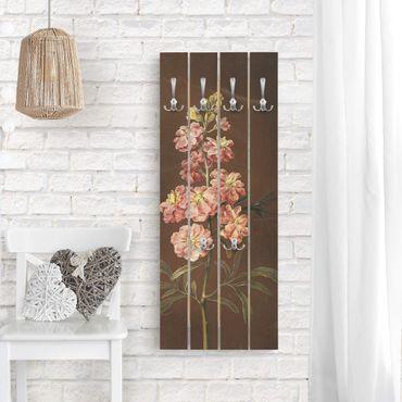 Appendiabiti in legno - Barbara Regina Dietzsch - Un Pink Garden Levkkoje - Ganci cromati - Verticale