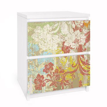 Carta adesiva per mobili IKEA - Malm Cassettiera 2xCassetti - Flowers yesteryear