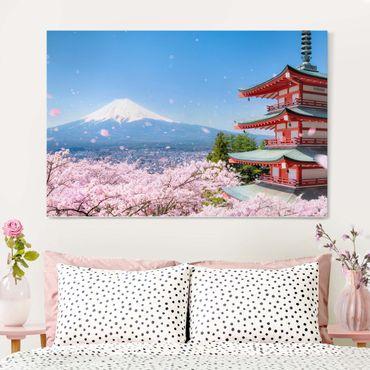 Stampa su tela - Chureito Pagode e monte Fuji