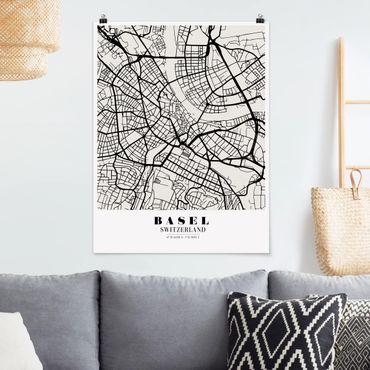 Poster - Mappa Basel - Classic - Verticale 4:3
