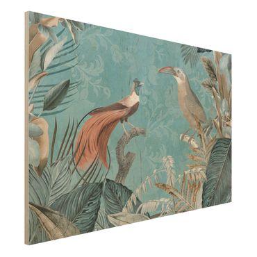 Stampa su legno - Vintage Collage - Birds Of Paradise - Orizzontale 2:3