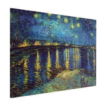 Lavagna magnetica - Vincent Van Gogh - Notte stellata sul Rodano - Formato orizzontale 3:4