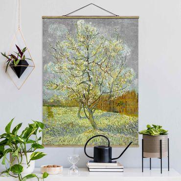 Foto su tessuto da parete con bastone - Vincent Van Gogh - Rosa Pesco - Verticale 4:3