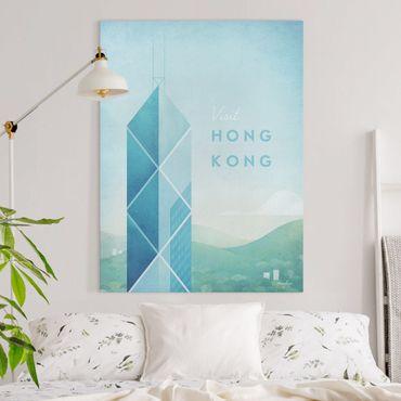 Stampa su tela - Poster Travel - Hong Kong - Verticale 4:3