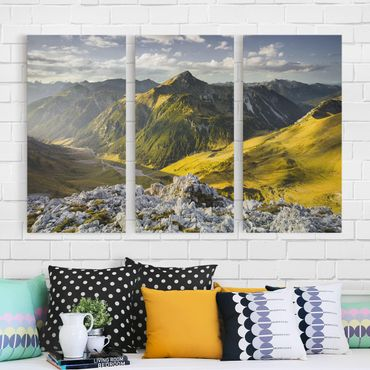 Stampa su tela 3 parti - Mountains And Valley Of The Lechtal Alps In Tirol - Verticale 2:1