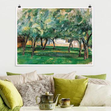 Poster - Paul Cézanne - azienda agricola della Normandia - Orizzontale 3:4