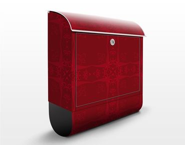 Cassetta postale Red Orient Ornament 39x46x13cm