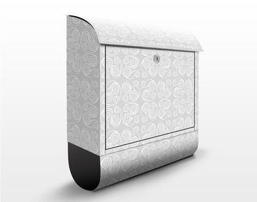 Cassetta postale Modern Ornament Grey 39x46x13cm