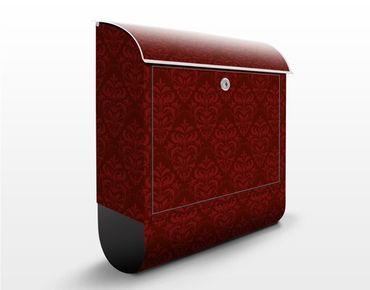 Cassetta postale Red French Baroque 39x46x13cm