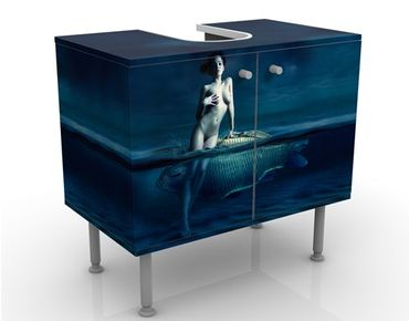 Mobile per lavabo design Nude With Fish