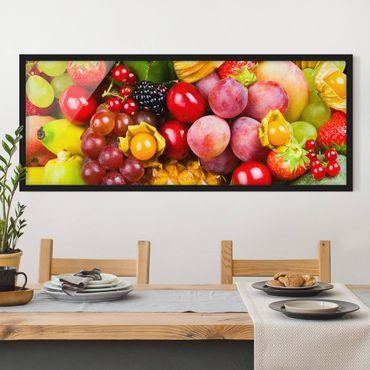 Poster con cornice - Colorful Frutta Esotica - Panorama formato orizzontale