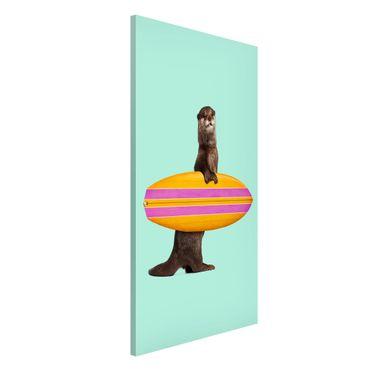 Lavagna magnetica - Lontra con il surf - Formato verticale 4:3