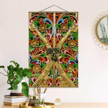 Foto su tessuto da parete con bastone - golden gate - Verticale 3:2