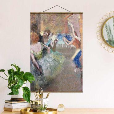 Foto su tessuto da parete con bastone - Edgar Degas - Scene Ballet - Verticale 3:2
