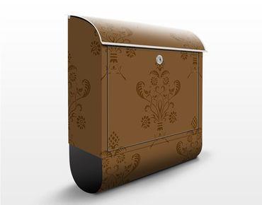 Cassetta postale Romantic Bouquet Brown 39x46x13cm