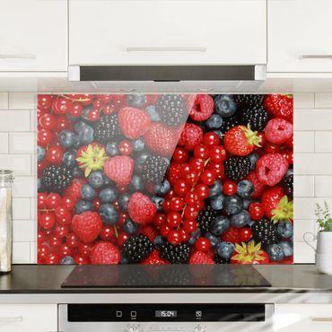 Paraschizzi in vetro - Fruity Berries - Orizzontale 2:3