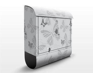 Cassetta postale Monochrome Butterflies 39x46x13cm