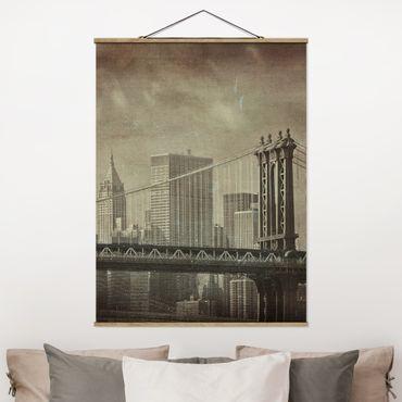 Foto su tessuto da parete con bastone - Vintage New York - Verticale 4:3