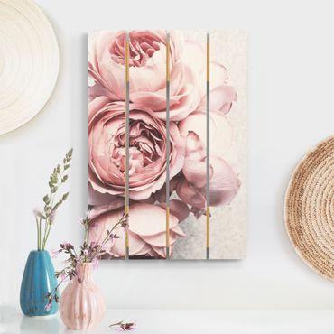Stampa su legno - Pink Peony fiori pastello misera - Verticale 3:2