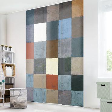Tende scorrevoli set - Paul Klee - Color Chart (On Gray)