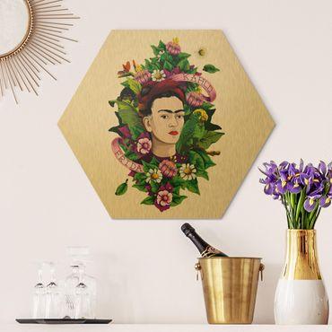 Esagono in Alu-dibond - Frida Kahlo - Roses