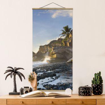 Foto su tessuto da parete con bastone - Tramonto Sul Islanda Paradise - Verticale 2:1