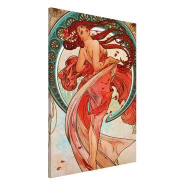 Lavagna magnetica - Alfons Mucha - Quattro arti - la danza - Formato verticale 2:3