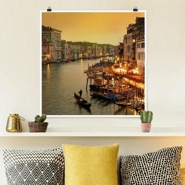 Poster - Canal Grande di Venezia - Quadrato 1:1