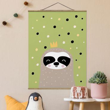 Foto su tessuto da parete con bastone - Il più pigro Sloth - Verticale 4:3