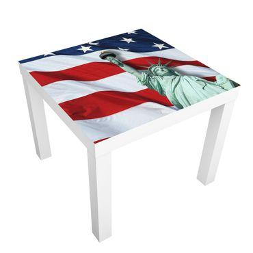 Carta adesiva per mobili IKEA - Lack Tavolino In God We Trust