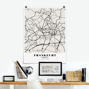 Poster - Frankfurt City Map - Classica - Verticale 4:3