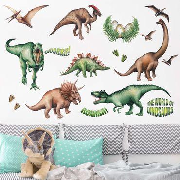 Adesivo murale - Il mondo dei dinosauri