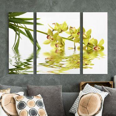 Stampa su tela 3 parti - Elegant Orchid Waters - Trittico