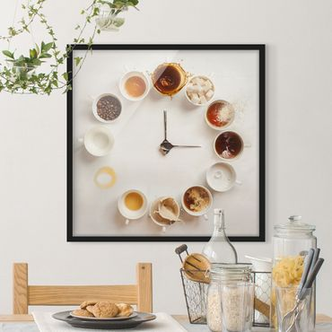 Poster con cornice - Coffee Time - Quadrato 1:1