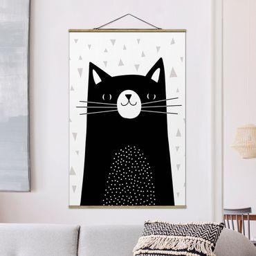 Foto su tessuto da parete con bastone - Zoo con Patterns - Cat - Verticale 3:2