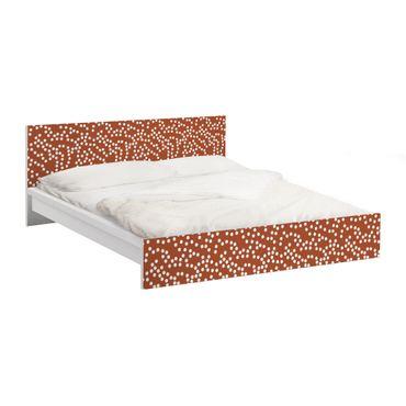 Carta adesiva per mobili IKEA - Malm Letto basso 180x200cm Aboriginal dot pattern Brown