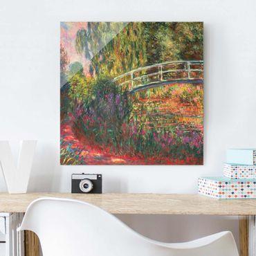 Quadro in vetro - Claude Monet - Ponte giapponese di Giverny - Quadrato 1:1