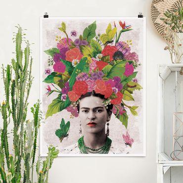 Poster - Frida Kahlo - Fiore Ritratto - Verticale 4:3